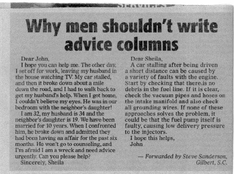 How to write advice columns from the 1930s